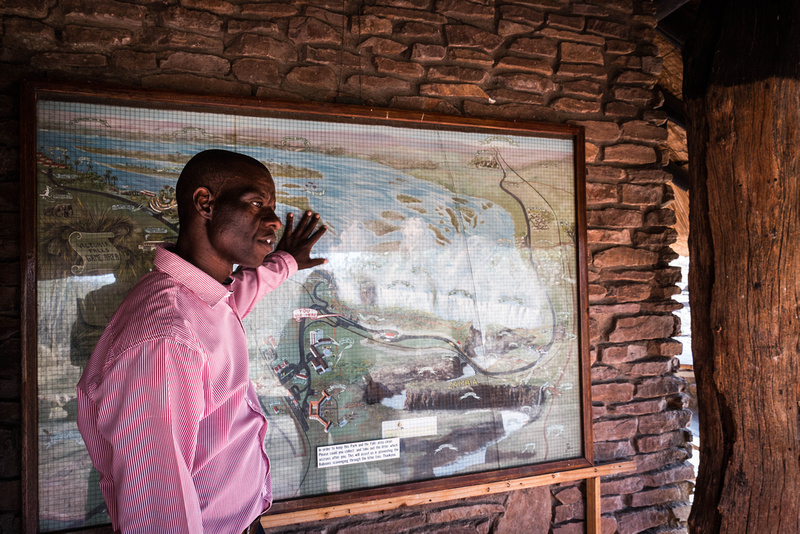 Markson, our guide at the Victoria Falls.