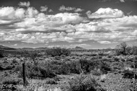 Karoo Landscape with clouds