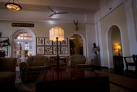 One of the lounges at the Vic Falls Hotel.